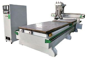 Mesin LD1325 2T9 Double Stations ATC CNC Machine With Boring Head