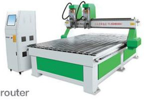 Mesin LD1825 Double Head Coffin CNC Router